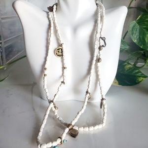 Juicy Couture cream charm necklace rare find